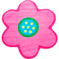 3' Round Light Pink Poppy Area Rug - Fun Time Shape