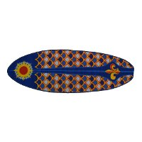 Blue and Orange Laguna Surfboard 5 Foot Runner Rug - Surf Time