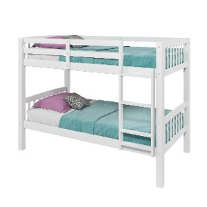 White Twin Over Bunk Bed