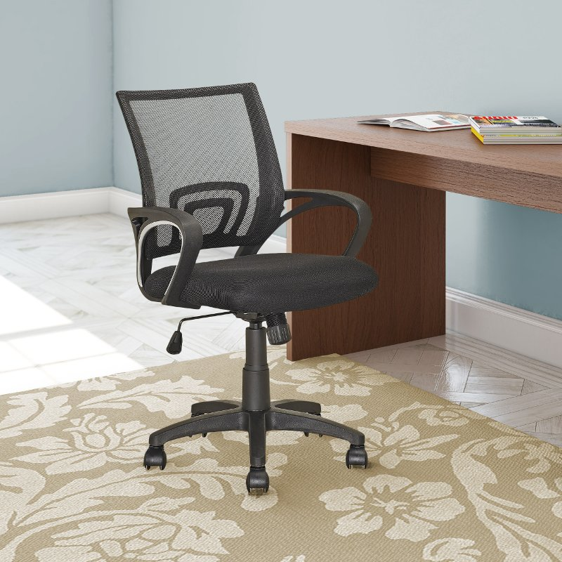 Black Mesh Back Office Chair - Workspace