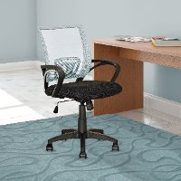 White and Black Mesh Office Chair - Workspace