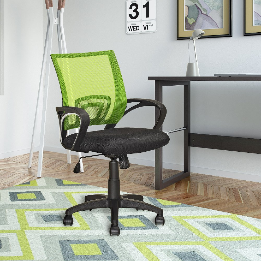 lime green office. Lime Green And Black Mesh Office Chair - Workspace | RC Willey Furniture Store 1