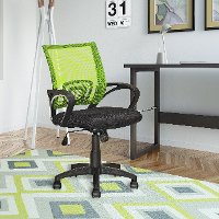 Lime Green and Black Mesh Office Chair - Workspace