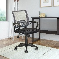 Dark Gray and Black Mesh Office Chair - Workspace