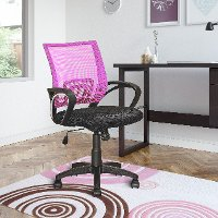 Pink and Black Mesh Office Chair - Workspace