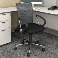 Gray and Black Mesh Office Chair - Workspace