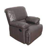 Brown Bonded Leather Recliner - Lea