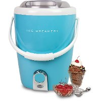 Blue 4-Quart Ice Cream Maker