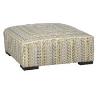 Striped Yellow Casual Contemporary Cocktail Ottoman - Piccolo