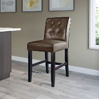 Dark Brown Bonded Leather Counter Height Stool - Antonio
