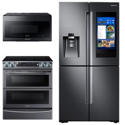 kit samsung black stainless steel 3 piece kitchen appliance package with electric range samsung black stainless steel 3 piece kitchen appliance package      rh   rcwilley com