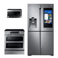 KIT Samsung 3 Piece Kitchen Appliance Package with Electric Range - Stainless Steel