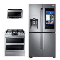 KIT Samsung 3 Piece Kitchen Appliance Package with Gas Range - Stainless Steel