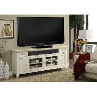 72 Inch Modern Country White TV Stand - Tidewater