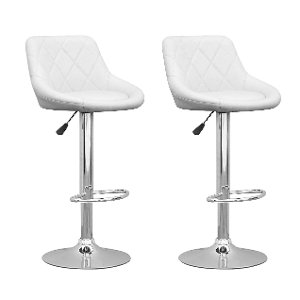 ... White Diamond Back Adjustable Bar Stool (Set Of 2) ...