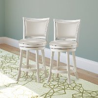 White Wash Counter Height Stool (Set of 2) - Woodgrove