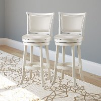White Wash Bar Stools (Set of 2) - Woodgrove