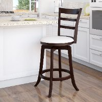 Espresso/ White Ladder Back Counter Height Stool - Woodgrove