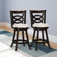 Cappuccino/ White Counter Height Stool (Set of 2) - Woodgrove