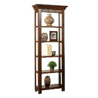Cherry Brown Open Bookcase - Crestline