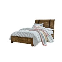 Rustic Casual Pine Full Sleigh Bed - Nelson