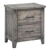 Rustic Casual Gray Nightstand - Nelson