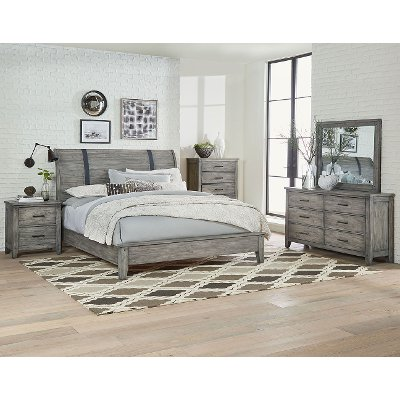 rustic queen bedroom sets. Rustic Casual Gray 6 Piece Queen Bedroom Set  Nelson RC Willey