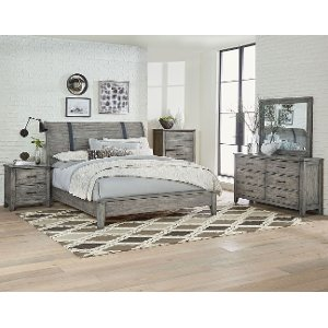 ... Rustic Casual Gray 6 Piece King Bedroom Set   Nelson ...