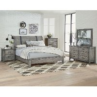 Rustic Casual Pine 6 Piece Twin Bedroom Set - Nelson