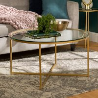 Round Glass Top Coffee Table (36 Inch)
