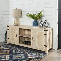 White Oak Barn Door TV Stand (58 Inch)