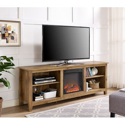 stands furniture tv lots fireplace inch contemporary with fire big stand electric costco