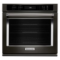 KOSE507EBS KitchenAid 27 Inch Single Wall Oven with Convection- 4.3 cu. ft. Black Stainless Steel