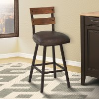 Espresso Swivel Counter Stool - Saugus