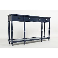 Antique Blue 60 Inch Console - Stately