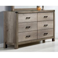 Rustic Contemporary Antiqued White Dresser - Matteo
