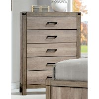 Rustic Contemporary Antiqued White Chest of Drawers - Matteo