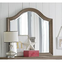 Classic Weathered Gray Mirror - Heather