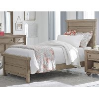 Classic Weathered Gray Twin Bed - Heather