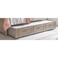 Gray Twin Trundle & Slat Roll for Full Bed - Heather
