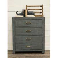 Casual Rustic Blue Chest of Drawers - Choices