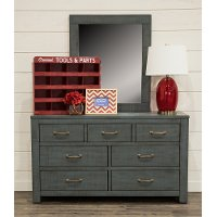 Casual Rustic Blue Dresser - Choices