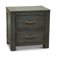 Casual Rustic Blue Nightstand - Choices