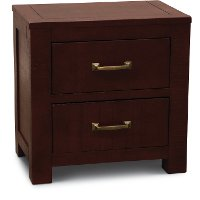 Casual Rustic Red Nightstand - Choices
