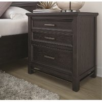 Classic Midnight Brown Nightstand - Grafton Ave.