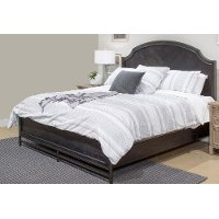 Classic Midnight Brown King Size Bed - Grafton Ave.