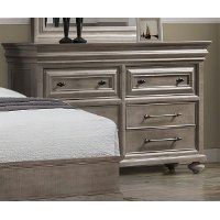 Classic Traditional Gray Dresser - Hudson Square