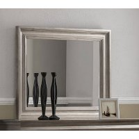 Classic Traditional Gray Mirror - Hudson Square