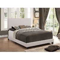 Contemporary Khaki Queen Upholstered Bed - Erin