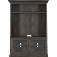 61 Inch Weathered Brown TV Stand and Hutch - Bellamy